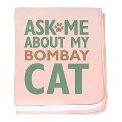 Bombay Cat baby blanket