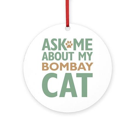 Bombay Cat Ornament (Round)