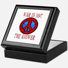 War is NOT The Answer Keepsake Box