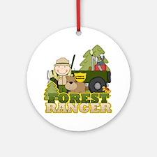 Female Forest Ranger Ornament (Round)