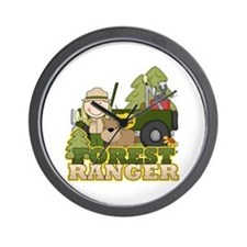 Female Forest Ranger Wall Clock