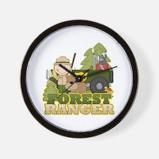 Female Forest Ranger Wall Clock