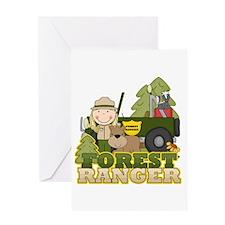 Female Forest Ranger Greeting Card