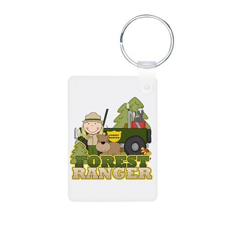 Female Forest Ranger Aluminum Photo Keychain