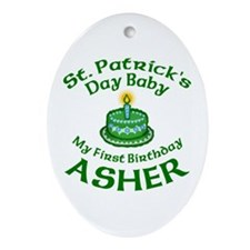 Personalized for Asher Ornament (Oval)
