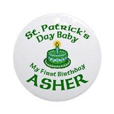 Personalized for Asher Ornament (Round)