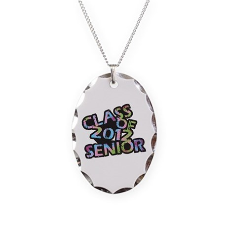 Class of 2012 Senior Necklace Oval Charm