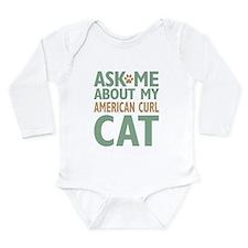 American Curl Cat Long Sleeve Infant Bodysuit