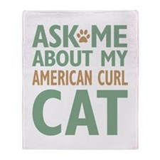 American Curl Cat Throw Blanket