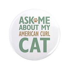"""American Curl Cat 3.5"""" Button"""