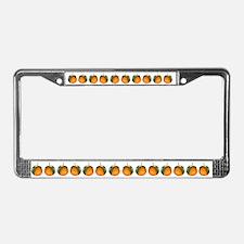 Oranges License Plate Frame