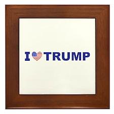 I Love Trump Framed Tile