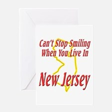 Can't Stop Smiling in NJ Greeting Card