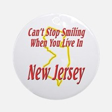 Can't Stop Smiling in NJ Ornament (Round)