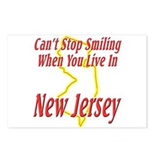 Can't Stop Smiling in NJ Postcards (Package of 8)