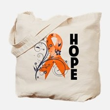 Hope Floral Multiple Sclerosi Tote Bag