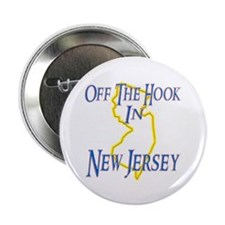 """Off the Hook in NJ 2.25"""" Button (10 pack)"""