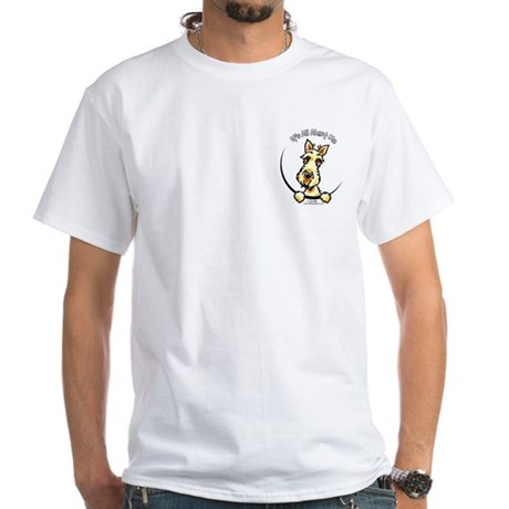 Wheaten Scottie IAAM Pocket White T-Shirt