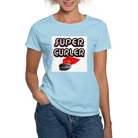 Super Curler Women's Pink T-Shirt
