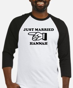Just Married Hannah Baseball Jersey