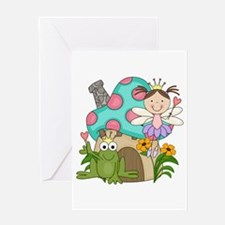 Princess and Toadstool House Greeting Card