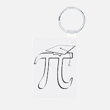 Math Pi Graduate Aluminum Keychain