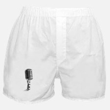 Vintage Microphone Boxer Shorts