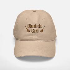 ukulele uke ukelele girl Baseball Baseball Cap