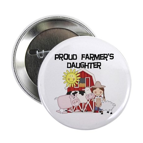 """Proud Farmer's Daughter 2.25"""" Button (100 pack)"""