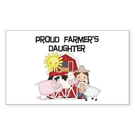 Proud Farmer's Daughter Sticker (Rectangle)