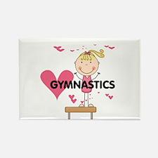 Blond Girl Gymnast Rectangle Magnet (10 pack)