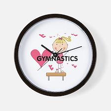 Blond Girl Gymnast Wall Clock