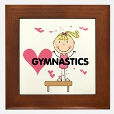 Blond Girl Gymnast Framed Tile
