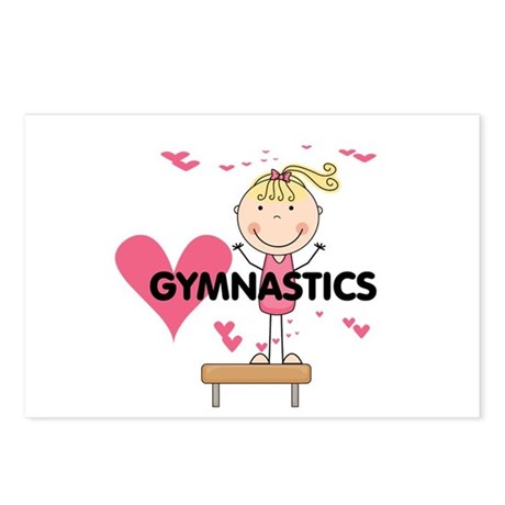 Blond Girl Gymnast Postcards (Package of 8)