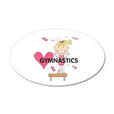 Blond Girl Gymnast 22x14 Oval Wall Peel