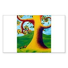 The Apricot Tree Sticker (Rectangle 10 pk)