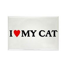 I LOVE MY CAT Rectangle Magnet