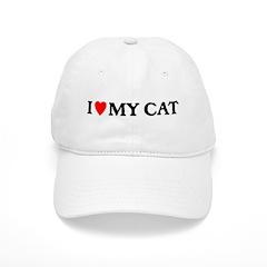 I LOVE MY CAT Baseball Cap