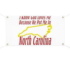 God Loves Me in NC Banner