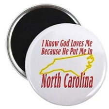 God Loves Me in NC Magnet
