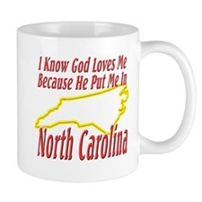 God Loves Me in NC Mug