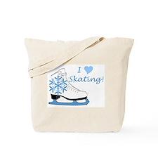 I Heart Skating Ice Skate Tote Bag