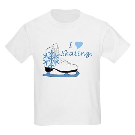 I Heart Skating Ice Skate Kids T-Shirt