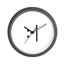 Indifferent Smilie Wall Clock