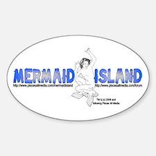 MERMAID ISLAND Oval Decal
