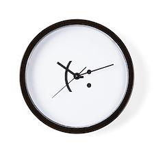 Left Handed Smilie Wall Clock