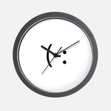 Left Handed Smilie Wall Clock