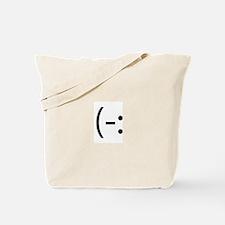 Left Handed Smilie Tote Bag