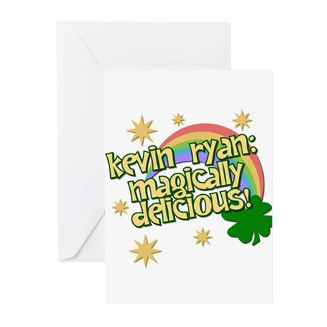 """Ryan is Magically Delicious"" Greeting Cards (Pk o"