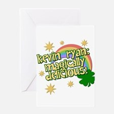 """Ryan is Magically Delicious"" Greeting Card"